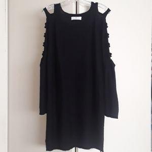 Black lightweight sweater dress